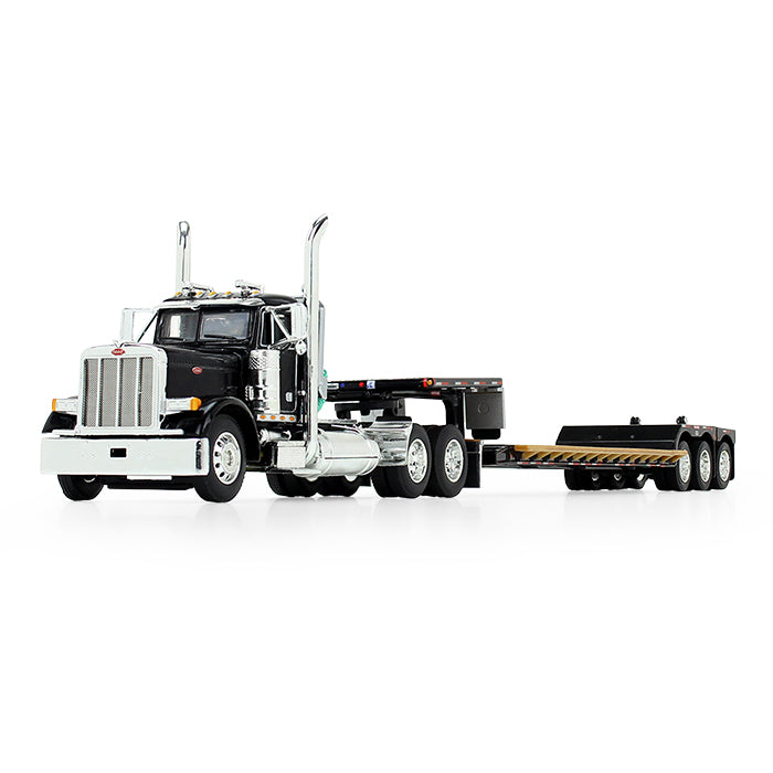 Peterbilt Model 379 Day Cab with Fontaine Renegade Extendable Lowboy with Flip Tail - DCP First Gear - 60-0721