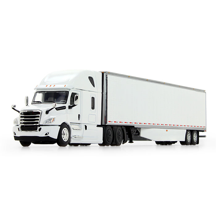 2018 Freightliner Cascadia High-Roof Sleeper with 53' Utility Trailer and Side Skirts 1:64 Scale Diecast Model - 60-0744