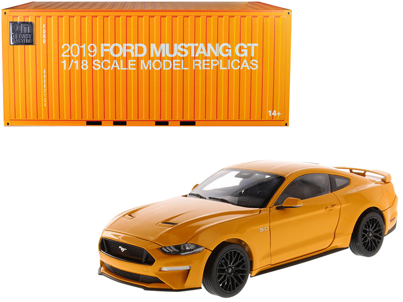 2019 Ford Mustang GT 5.0 Coupe Orange Fury Metallic 1/18 Diecast Model Car - Diecast Masters - 61001