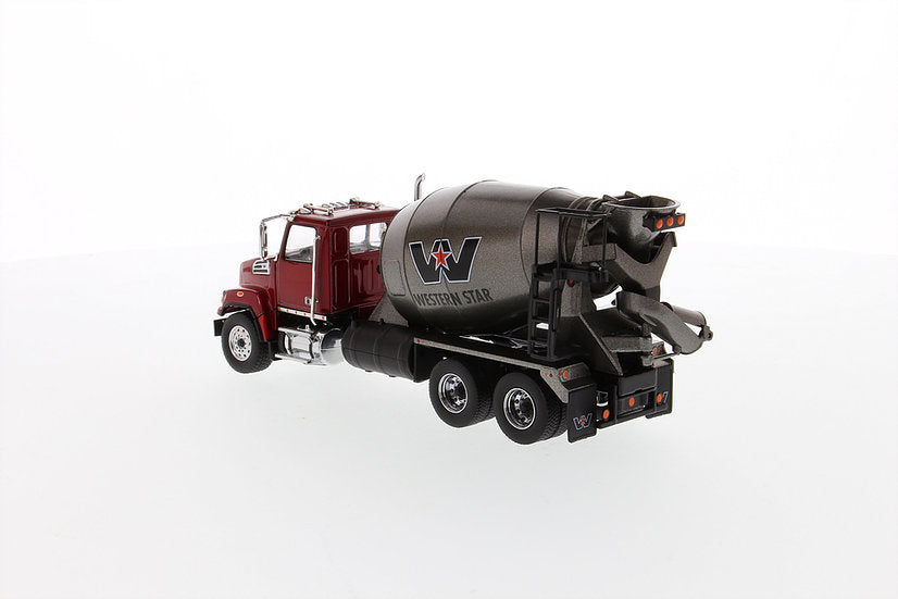 Western Star 4700 SF Concrete Mixer Metallic Red w/ Gray Body 1:50 Scale Model - Diecast Masters - 71033