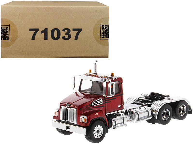 Western Star 4700 SF Tandem Day Cab Tractor Metallic Red 1/50 Diecast Model by Diecast Masters