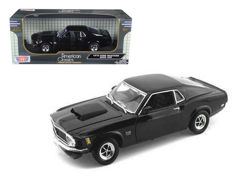1970 Ford Mustang BOSS 429 1:18 Diecast Model Black - Motormax - 73154BK