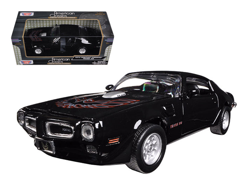 1973 Pontiac Firebird Trans Am Black 1:24 Diecast Model Car - Motormax - 73243BK