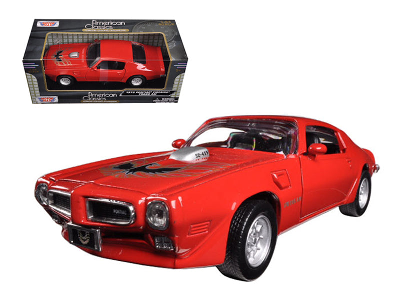 1973 Pontiac Firebird Trans Am Red 1:24 Diecast Model - Motormax - 73243RD