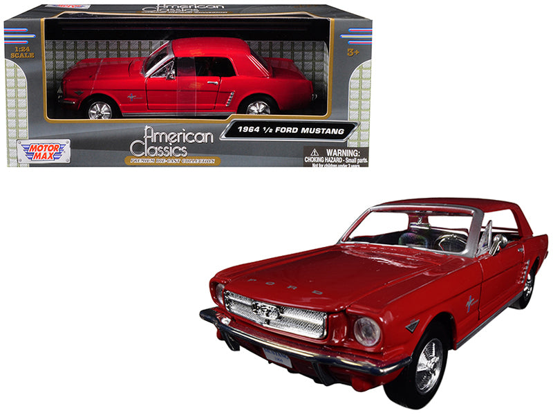 1964 1/2 Ford Mustang Red 1/24 Diecast Model Car - Motormax - 73273RD