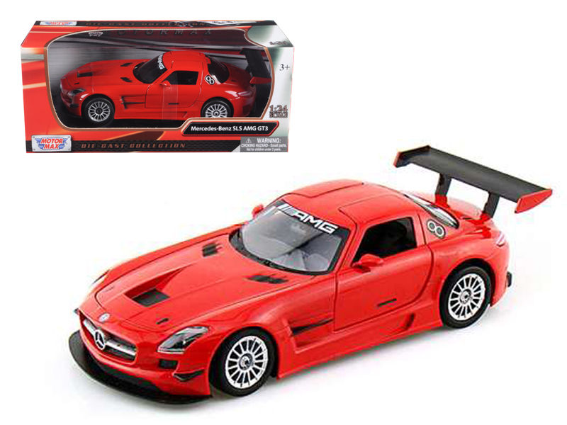 Mercedes SLS AMG GT3 Red 1:24 Diecast Model - Motomax - 73356RD