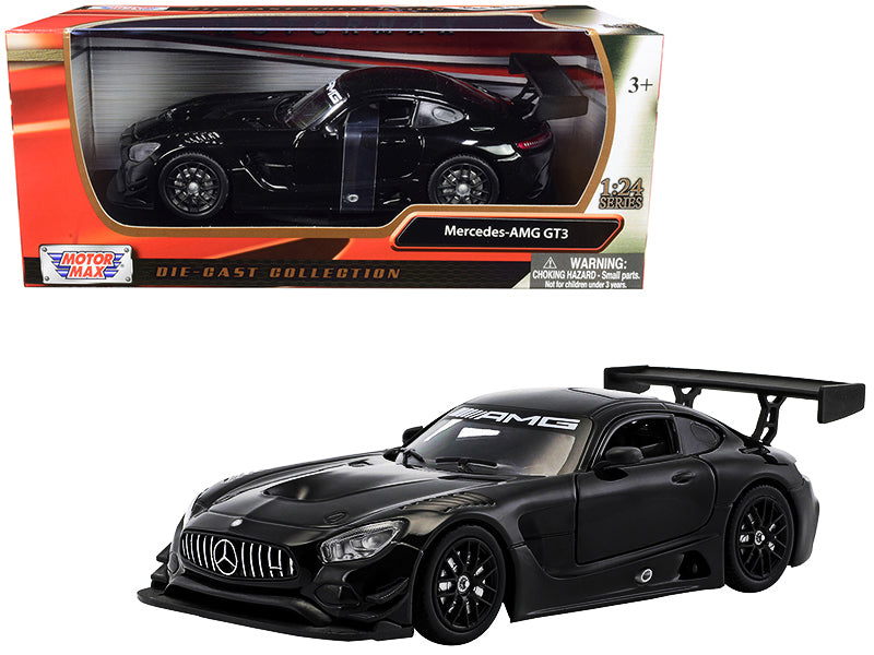 Mercedes AMG GT3 Black 1:24 Diecast Model Car - Motormax - 73386BK
