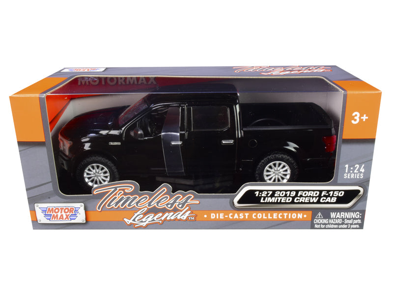 2019 Ford F-150 Limited Crew Cab Pickup Truck Black 1:24 Diecast Model - Motormax 79364BK