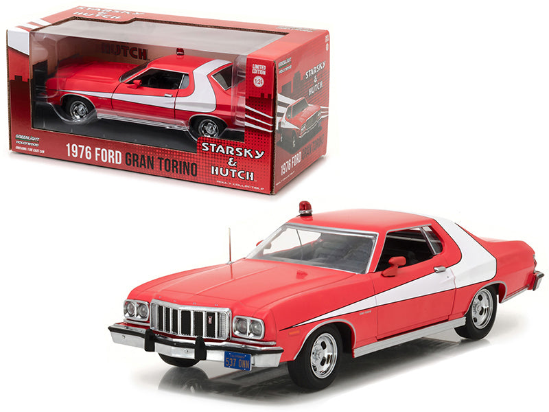 "1976 Ford Gran Torino Red ""Starsky and Hutch"" (1975-1979) TV Series 1/24 Diecast Model Car - Greenlight - 84042"