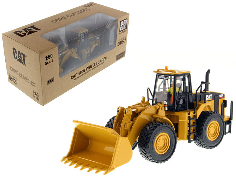 "Caterpillar CAT 980G Wheel Loader w/ Operator ""Core Classics Series"" 1:50 Scale Model - Diecast Masters - 85027C"