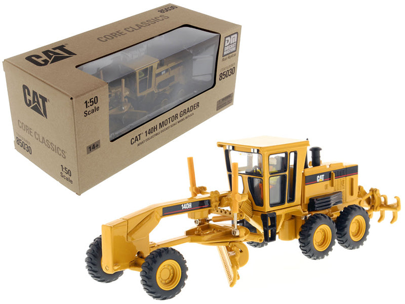 "Caterpillar CAT 140H Motor Grader w/ Operator ""Core Classics Series"" 1:50 Scale Model - Diecast Masters - 85030C"