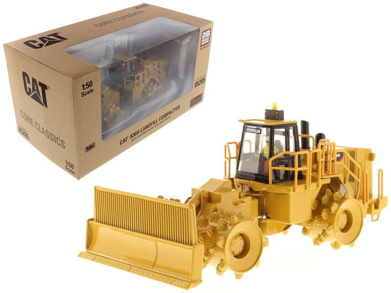 "Caterpillar CAT 836H Landfill Compactor w/ Operator ""Core Classic Series"" 1:50 Scale Model - Diecast Masters - 85205C"