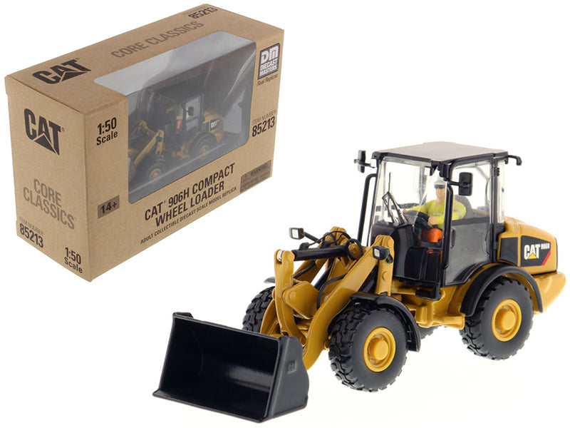 "Caterpillar CAT 906H Compact Wheel Loader w/ Operator ""Core Classics Series"" 1:50 Scale Model - Diecast Masters - 85213"
