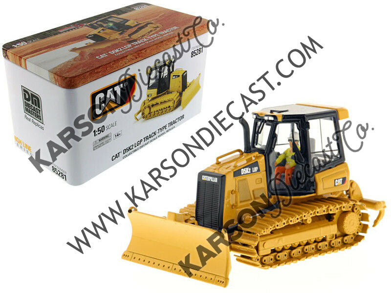 Caterpillar CAT D5K2 LGP Track Type Tractor Dozer w/ Ripper w/ Operator High Line Series 1:50 Scale Model - Diecast Masters - 85281