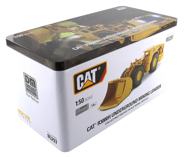 "Caterpillar CAT R3000H Underground Wheel Loader w/ Operator ""High Line Series"" 1:50 Scale Model - Diecast Masters - 85297"