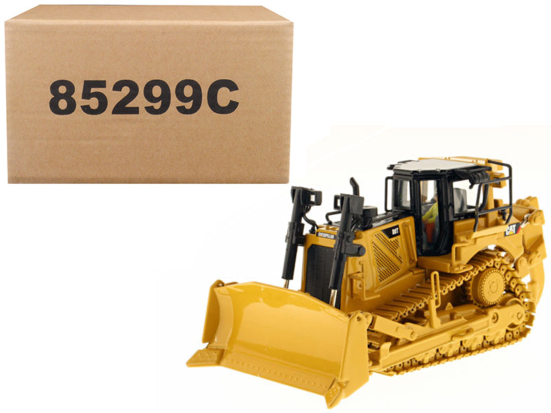 "Caterpillar CAT D8T Track Type Tractor w/ Single Shank Ripper w/ Operator ""Core Classics Series""1:50 Scale Model - Diecast Masters - 85299C"
