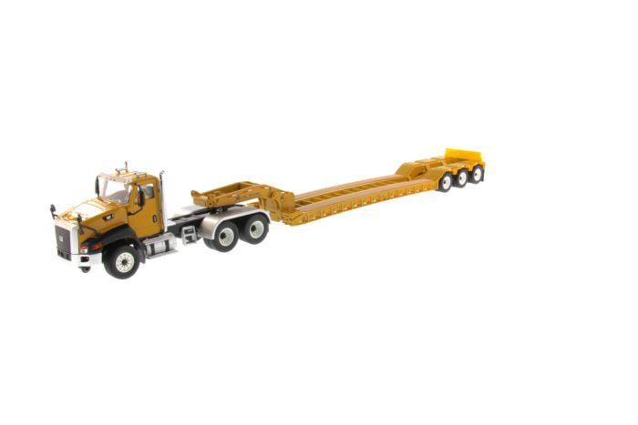 "Caterpillar CAT CT660 Day Cab with XL 120 Low-Profile HDG Lowboy Trailer & Operator ""Core Classics"" Series 1:50 Scale Model - Diecast Masters - 85503C"