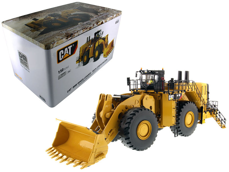 "Caterpillar CAT 994K Wheel Loader w/ Rock Bucket & Operator ""High Line Series"" 1/50 Diecast Model - Diecast Masters - 85505"
