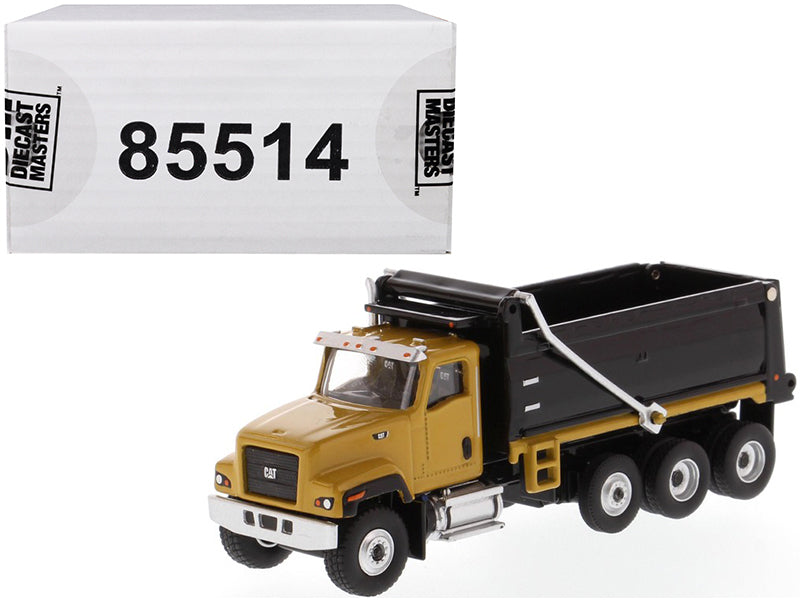 "Caterpillar CAT CT681 Dump Truck Yellow & Black ""High Line"" Series 1/87 (HO) Scale Diecast Model - Diecast Masters - 85514"