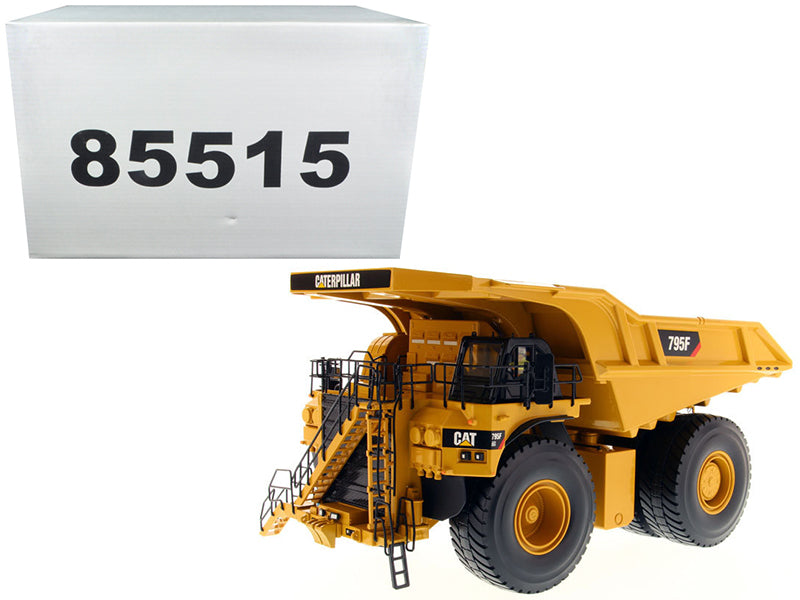 "Caterpillar CAT 795F AC Electric Drive Mining Truck w/ Operator ""High Line Series"" 1:50 Scale Model - Diecast Masters - 85515"