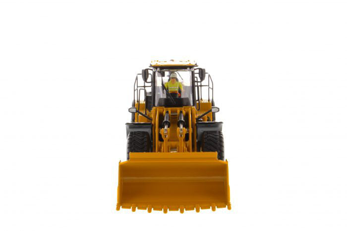 "Caterpillar CAT 980M Wheel Loader w/ Rock Bucket & Operator ""High Line Series"" 1:50 Scale Model - Diecast Masters - 85543"