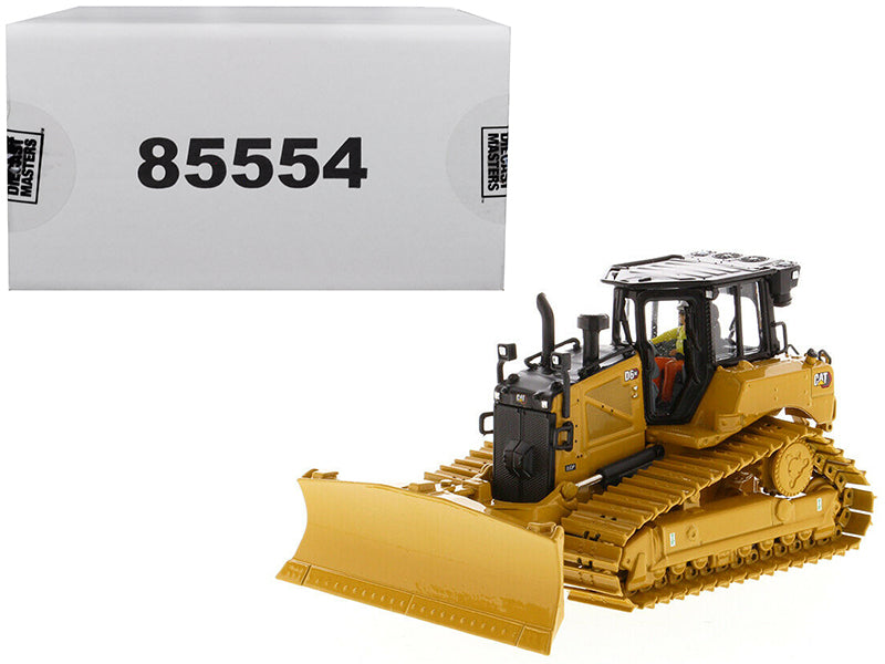 "Caterpillar CAT D6 XE LGP Track Type Tractor Dozer w/ VPAT Blade & Operator ""High Line"" Series 1:50 Scale Model - Diecast Masters - 85554"
