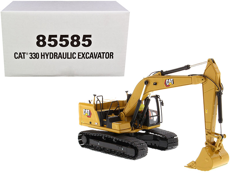 "Cat Caterpillar 330 Hydraulic Excavator Next Generation w/ Operator ""High Line Series"" 1:50 Diecast Model - Diecast Masters - 85585"