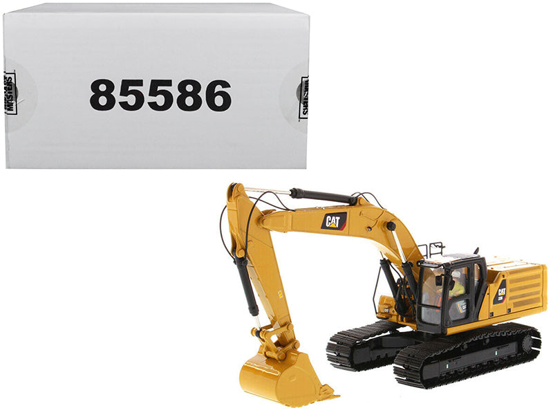 "Caterpillar CAT 336 Next Generation Hydraulic Excavator & Operator ""High Line"" Series 1:50 Scale Model - Diecast Masters - 85586"