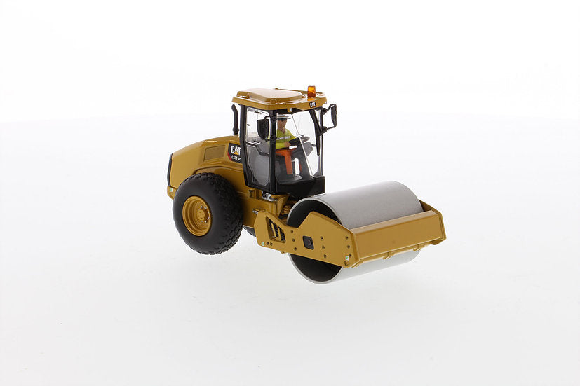 "Caterpillar CAT CS11 GC Vibratory Soil Compactor with Operator ""High Line Series"" 1:50 Scale Model - Diecast Masters - 85589"