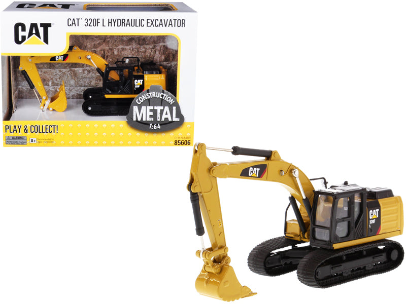 Caterpillar Cat 320F L Hydraulic Excavator 1:64 Scale Model - Diecast Masters - 85606