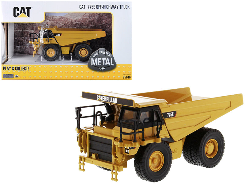 "Caterpillar CAT 775E Off-Highway Dump Truck ""Play & Collect!"" Series 1/64 Diecast Model - Diecast Masters - 85616"
