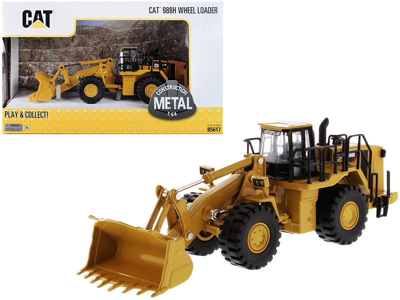 "Caterpillar CAT 988H Wheel Loader ""Play & Collect!"" Series 1/64 Diecast Model by Diecast Masters - 85617"