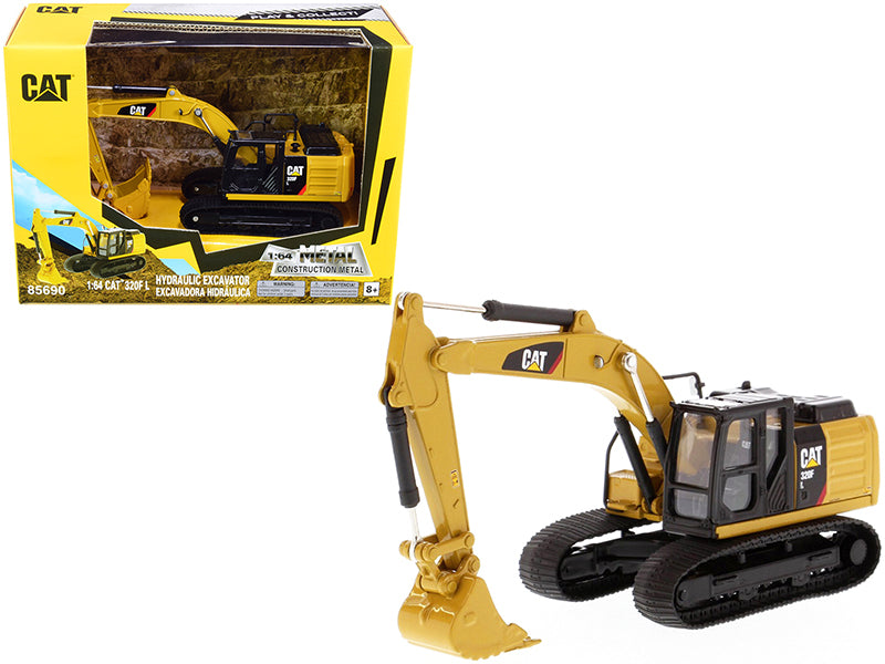 "CAT Caterpillar 320F L Hydraulic Excavator ""Play & Collect!"" Series 1:64 Diecast Model - Diecast Masters - 85690"