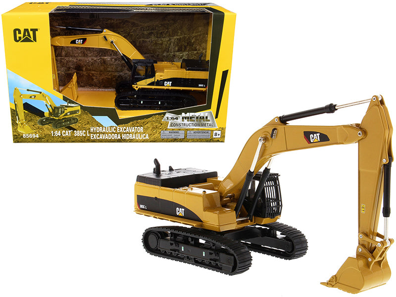 "CAT Caterpillar 385C L Hydraulic Tracked Excavator ""Play & Collect!"" 1:64 Diecast Model - Diecast Masters - 85694"
