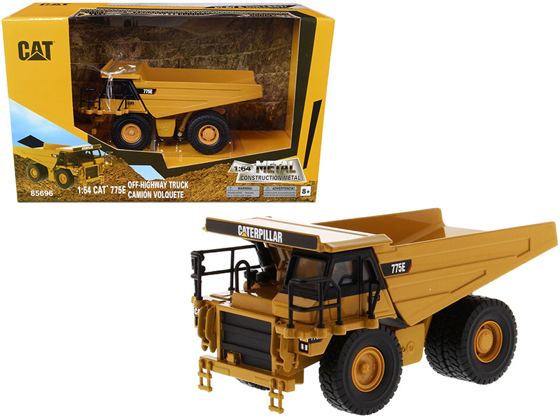 "CAT Caterpillar 775E Off-Highway Dump Truck ""Play & Collect!"" 1:64 Diecast Model - Diecast Masters - 85696"