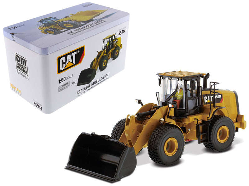 "Caterpillar CAT 950M Wheel Loader w/ Operator ""High Line Series"" 1:50 Scale Model - Diecast Masters - 85914"