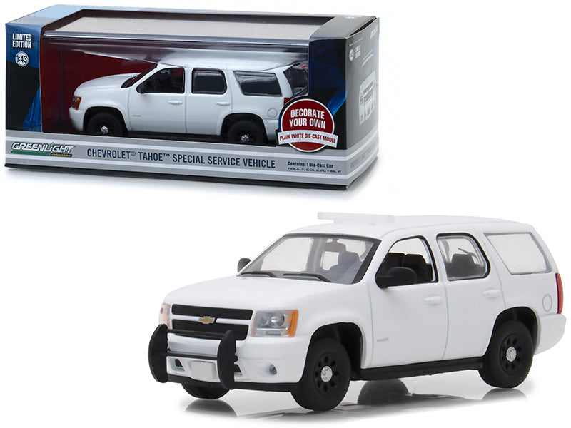 Chevrolet Tahoe Special Service Vehicle Plain White 1:43 Diecast Model