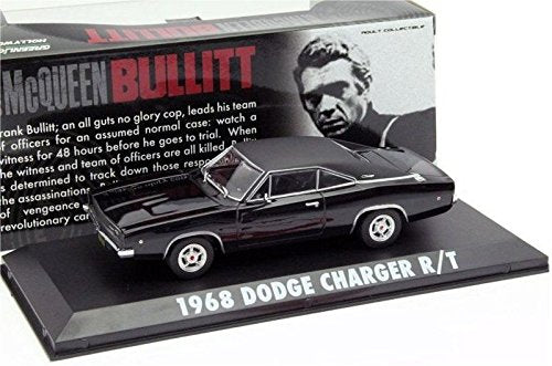 """Greenlight Hollywood Series 1968 Dodge Charger /""""Bullitt/"""" 1//43 Scale"""