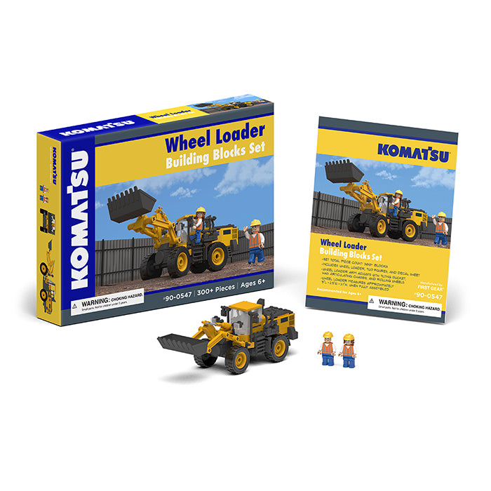 Komatsu Wheel Loader Building Blocks Set - First Gear - 90-0547