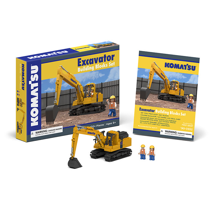 Komatsu Excavator Building Blocks Set - First Gear - 90-0552