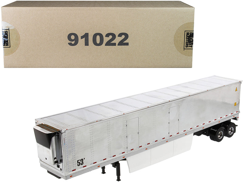 "53' Reefer Refrigerated Van Trailer Chrome ""Transport Series"" 1/50 Diecast Model - Diecast Masters - 91022"
