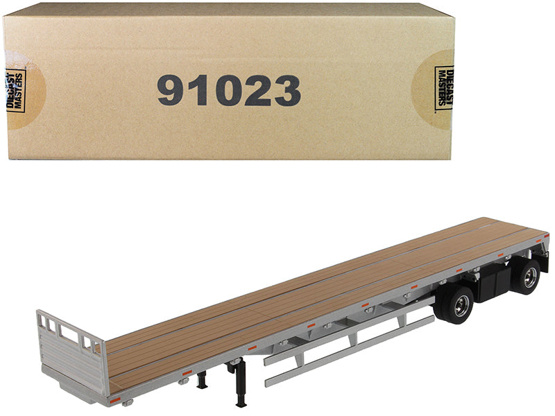 "53' Flat Bed Trailer Silver ""Transport Series"" 1/50 Diecast Model - Diecast Masters - 91023"