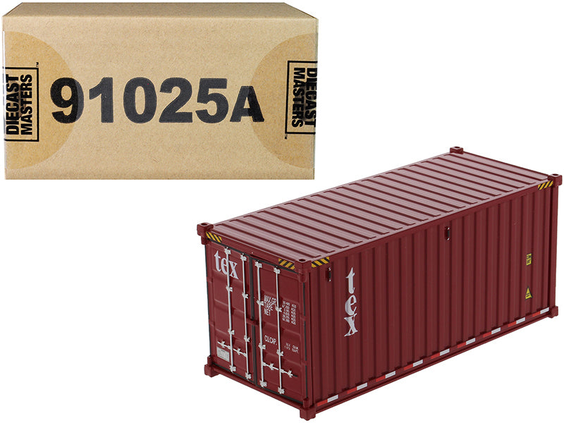 "20' Dry Goods Sea Container ""TEX"" Burgundy ""Transport Series"" 1/50 Model - Diecast Masters - 91025A"