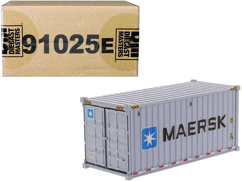 "20' Dry Goods Sea Container ""MAERSK"" Gray ""Transport Series"" 1/50 Model - Diecast Masters - 91025E"