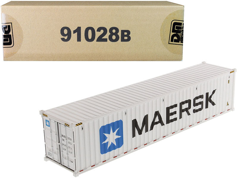 "40' Refrigerated Sea Container ""MAERSK"" White ""Transport Series"" 1/50 Model by Diecast Masters - 91028B"