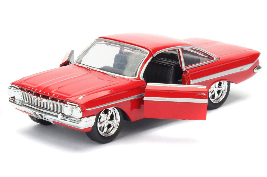 Dom's 1961 Chevrolet Impala Red From Fast and Furious 8 1:24 Model - Jada 98430