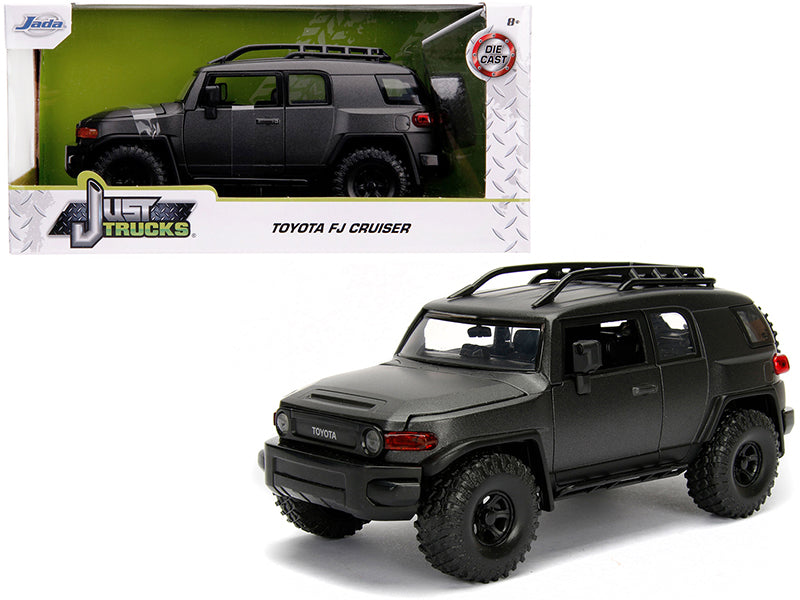 "Toyota FJ Cruiser with Roof Rack Charcoal Gray Metallic ""Just Trucks"" 1/24 Diecast Model Car - Jada - 99318"