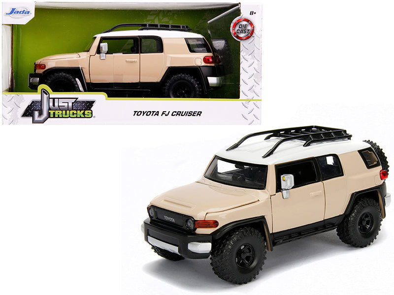 "Toyota FJ Cruiser with Roof Rack Beige with White Top ""Just Trucks"" 1/24 Diecast Model Car - Jada - 99319"