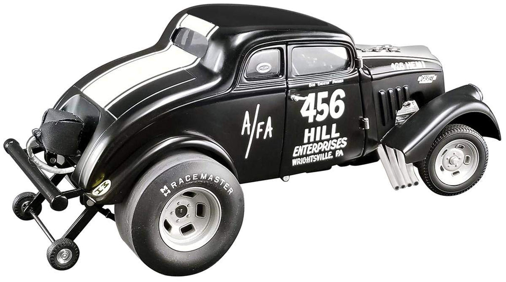 1933 Gasser #456 Bob Cheater Parmer Dirty Thirty Matt Black w/White Stripes Limited Edition to 420 Pieces 1/18 Diecast Model Car - ACME - A1800913