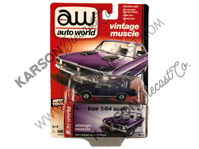 1971 Dodge Dart Muscle Cars Release 5B 1:64 Scale Diecast Model Car - Autoworld - AW64042